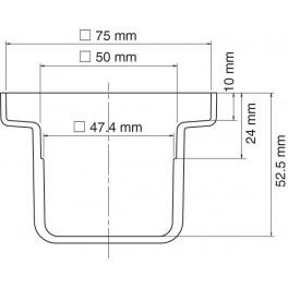BAC D'ETAMAGE VERSION STD DIM. 75X75 POUR BAIN FX301B
