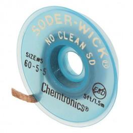 TRESSE A DESSOUDER NO CLEAN 3,7MMX1,5M MARRON /25PCS
